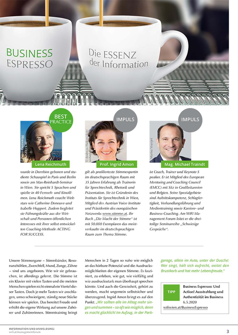 """ACTING FOR SUCCESS by Lena Reichmuth - """"IHR AUFTRITT BITTE -Denkanstöße für mehr Authentizität im Business"""""""