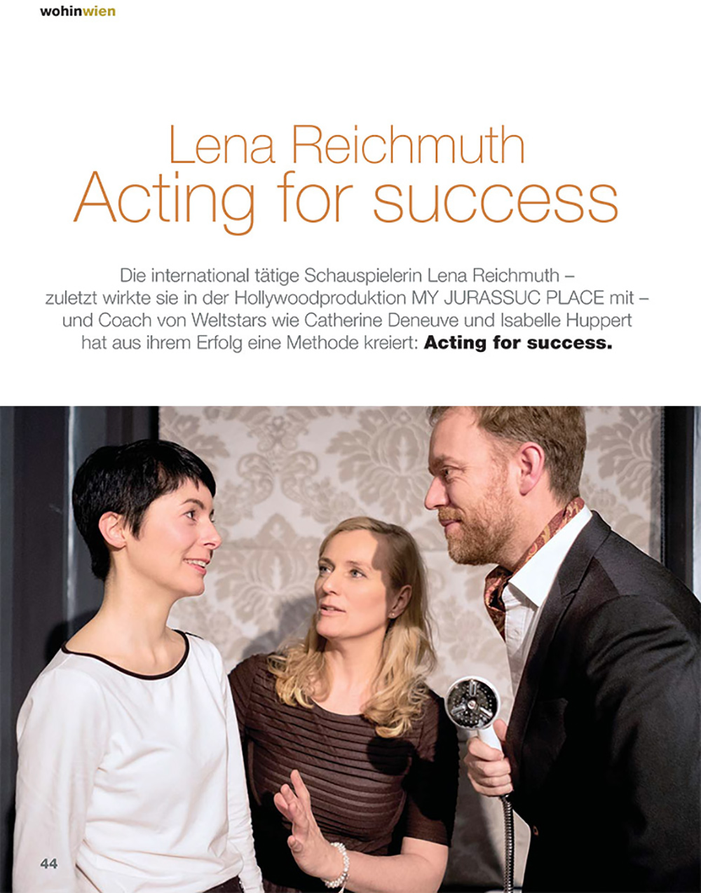 "ACTING FOR SUCCESS by Lena Reichmuth - ""wohin wien"""